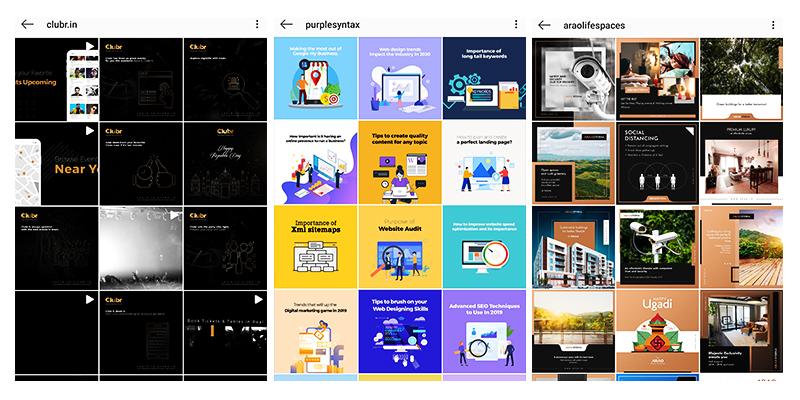 Engaging Instagram feed