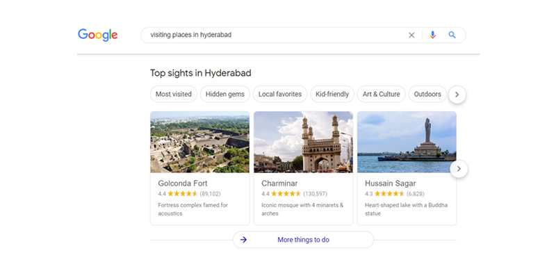 Google Knowledge Carousel
